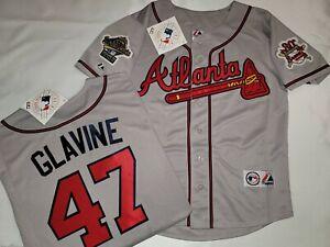 Majestic 1995 Atlanta Braves TOM GLAVINE World Series Baseball JERSEY Gray