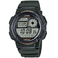 Casio AE-1000W-3A Military Green Unisex Digital Sports Watch With Box Included
