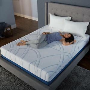 "Serta SleepToGo 12"" Gel Memory Foam Luxury Queen Mattress - FREE SHIPPING"