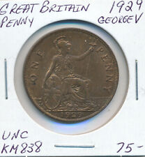 GREAT BRITAIN PENNY 1929 GEORGE V KM838 - UNC