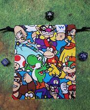 Nintendo Mario Brothers Packed Character dice bag, card bag, makeup bag
