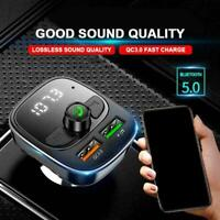 Bluetooth Transmisor FM Reproductor MP3 para Cargador USB Manos R8R9 W De M4K2