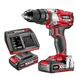 Ozito PXC Brushless Hammer Drill Kit DRILL DRIVE HAMMER *Mel Stock *FREE POST