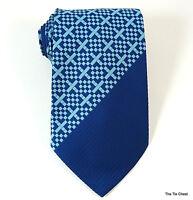 Vintage 1970s Super Wide Tie Blue Check Necktie Marquis by Forsyth