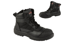 ARMA Titan Leather Safety Steel Toe Cap Zip Lace Work Waterproof Men Ankle Boots