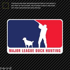 Major League Duck Hunting Sticker Die Cut Decal MLDH
