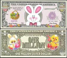 Lot of 100 BILLS - EASTER BUNNY / HOLIDAY FUN MILLION DOLLAR NOVELTY BILL