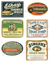 Vintage Style Labels  ~ Colorful Squares  - #FH415   Reproduction