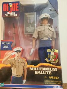 "USMC MILLENNIUM SALUTE GI G.I. JOE by Hasbro 12"" 1:6 Scale Action Figure New NIB"