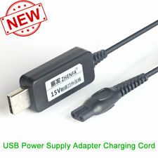 15V USB Power Supply Charger Adapter Cord for Philips AT890/17 AQUA TOUCH Shaver
