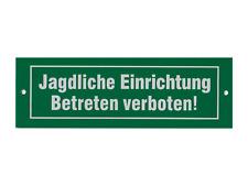 """Aluschild """"jagdliche Einrichtung"""""""