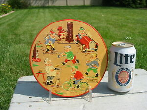 Vintage Simplex Wood Wooden Round Puzzle Holland Made Dutch Toy Game Old Gnome
