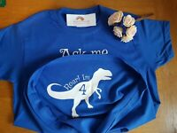 Ask me about my T rex with age in dinosaur funny cute Kids Tee 2 - 13 years FOL