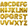"""16"""" Gold Alphabet Letter A-Z Foil Helium Balloons Letters Birthday Wedding Party"""