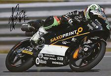 Efrén Vázquez mano firmado saxoprint-rtg Honda 12x8 Foto 2014 Moto3 4.
