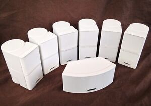7 Mint Bose Jewel Double Cube Speakers 1 Center Channel 6 Surround White 7.1/7.2