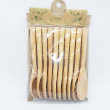 1 Lots Natural Wooden Spoons Cooking Kitchen Equipment Mixing Stick Utensil Tool