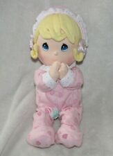 Precious Moments Baby Girl Doll Pink Pajamas Prayer Praying Non-working