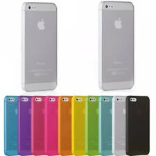 iPhone 4, 4s, 5, 5s, SE Phone Case Slim Hard Matte Clear + Screen Protector
