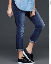 Maternity 28 R NEW Gap Best Girlfriend Jeans Full Panel Dark Blue Washed Look