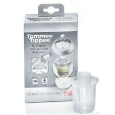 Tommee Tippee Closer to Nature 6 Compact Travel Milk Powder Dispenser Set