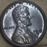 1919 -S Extra Fine - About Uncirculated Lincoln Cent Wheat Penny. Semi-Key Cent.