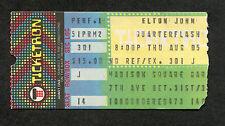 1982 Elton John Quarterflash Concert Ticket Stub Madison Square Garden Jump Up