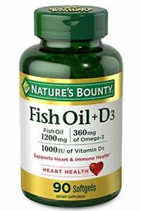 Fish Oil plus Vitamin D3 by Nature's Bounty, Contains Omega 3, Immune...