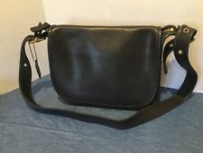 Vintage COACH 9951 Patricia's Legacy Black Crossbody Shoulder Saddle Bag