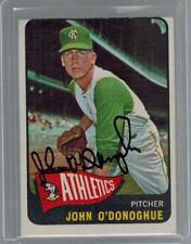 1965 65 JOHN O'DONOGHUE TOPPS BASEBALL SIGNED AUTO CARD #71 A'S