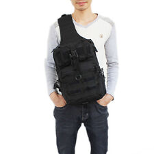 Men's Military Tactical Travel Hiking Messenger Backpack Chest Waterproof Bag
