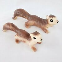 "Vintage Ceramic Climbing Squirrels Set of 2 Mom Baby 7"" & 9"" Taiwan"