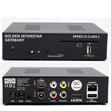 Golden INTERSTAR Xpeed LX Class C HD TV cable receiver Linux OS E2 DVB-C