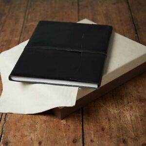 Antara Fair Trade Soft Black Leather Photo Album + Gift Box & Bag - 2nd Quality