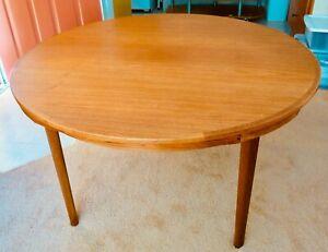 Dyrlund Teak Lotus Flip Flap Mid Century Modern Dining Room Table 1960's-1970's