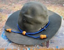 ARMY USMC Style WWII Trooper Calvary Drill Sergeant Wool Felt Campaign Hat