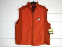 New Woolrich Mens Trailhead Fleece Full Zip Fleece Vest Size XL