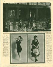 Publicité ancienne Deauville Melle Agnès Souret 1921 issue de magazine