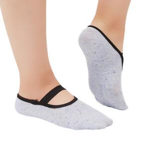 Women Yoga Socks Girls Non Slip Skid Pilates Dance ankle Low Socks Slippers LI