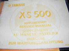 YAMAHA  XS500 SUPPLEMENTARY SERVICE MANUAL 1977  (1 st Edition)