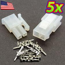 [5x] 4.2mm 5557-2R/5559-2P 1x2P PC Molex Automotive Wiring Harness Connector