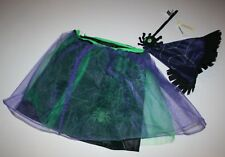 NEW Old Navy Witch's Skirt Wand Hat Child Costume Size M Year Girl Halloween
