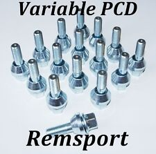 Che oscilla Bulloni Ruota Per VW Polo 12mm X 15 mm Set di 16 variabile PCD