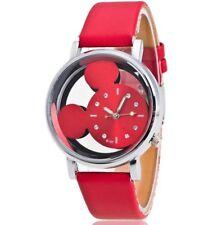 Disney Mickey Mouse Face Watch. Ladies Or Men's. Red Metallic. Birthday. Xmas