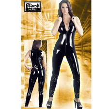 Sexy tutina VERNICE intera smanicata nero laccato fetish woman Catsuit Tg L sexy