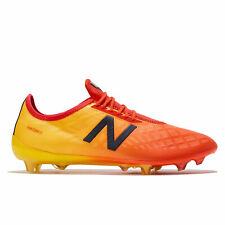 New Balance Furon 4.0 Pro Firm Ground Football Boots Shoes Orange Mens