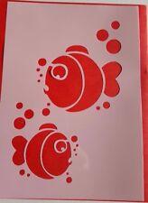 Schablonen 1023 Fische Stanzschablone Shabby Stencil Wandtattoos Wandbilder Maus
