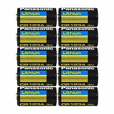 10 pcs Panasonic Lithium CR123A 3V Photo Lithium Batteries 10 Batteries