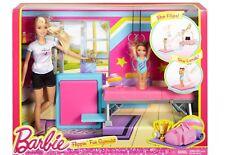 NEW Barbie Careers Flippin Fun Gymnast Playset