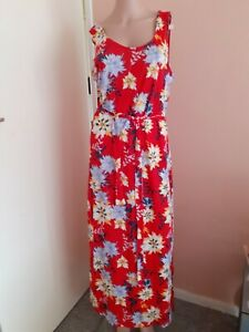 Studio Women's Tie Waist Mid Maxi  Dress, Size 12-14, Holiday, Formal, Blu15565